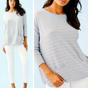 NWT Lilly Pullitzer Cobo Heathered Blue Sweater M